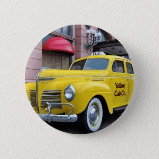 New York Yellow Vintage Cab 6 Cm Round Badge