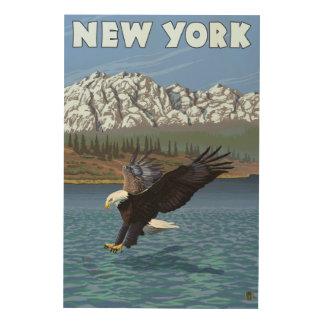 New YorkEagle Fishing Wood Wall Art