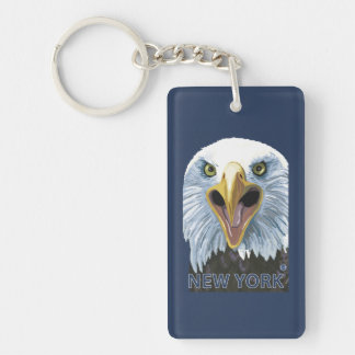 New YorkEagle Up Close Key Ring