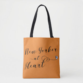New Yorker At Heart Grocery Bag, NYC Tote Bag