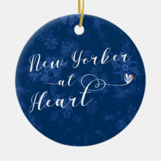 New Yorker At Heart Holiday Decoration, NYC Christmas Ornament