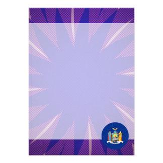 New+Yorker Flag Souvenir 13 Cm X 18 Cm Invitation Card