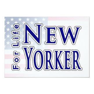 New Yorker For Life 13 Cm X 18 Cm Invitation Card