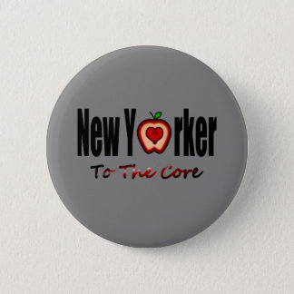 New Yorker To The Core With Sliced Big Apple 6 Cm Round Badge