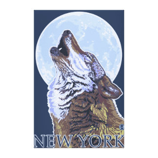 New YorkHowling Wolf Gallery Wrapped Canvas