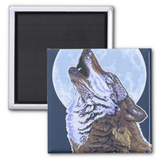 New YorkHowling Wolf Square Magnet