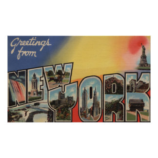 New YorkLarge Letter ScenesNew York State 2 Poster