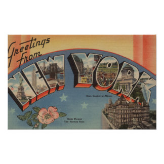 New YorkLarge Letter ScenesNew York State 3 Poster