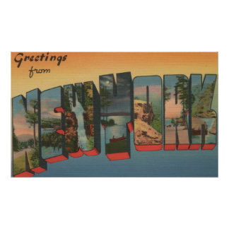 New YorkLarge Letter ScenesNew York State Poster