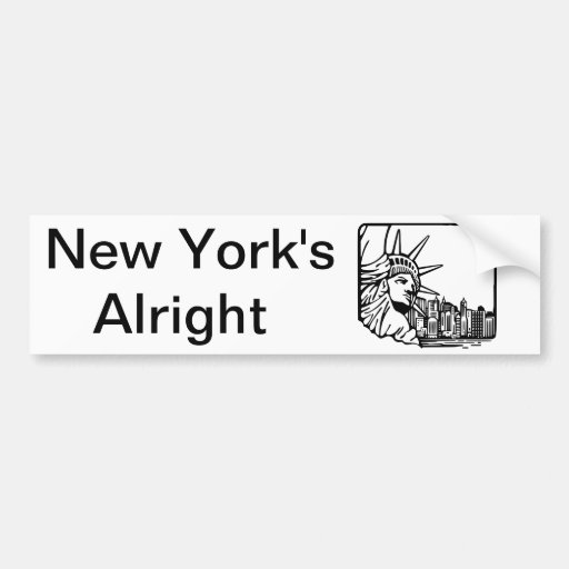 New York's Alright Bumper Stickers