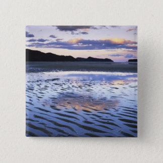New Zealand, Abel Tasman National Park, Coast 15 Cm Square Badge