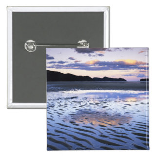 New Zealand, Abel Tasman National Park, Coast 15 Cm Square Badge