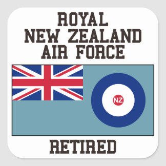 New Zealand Air Force Retired Square Sticker