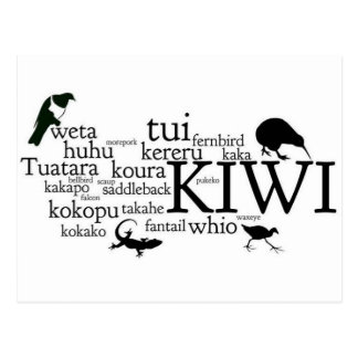 New Zealand animal postcard