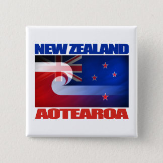 New Zealand - Aotearoa 15 Cm Square Badge