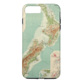 New Zealand Atlas Map iPhone 8 Plus/7 Plus Case