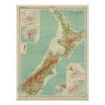 New Zealand Atlas Map Posters