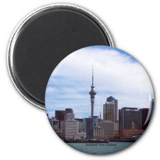 New Zealand: Auckland cityscape 6 Cm Round Magnet