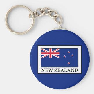 New Zealand Basic Round Button Key Ring
