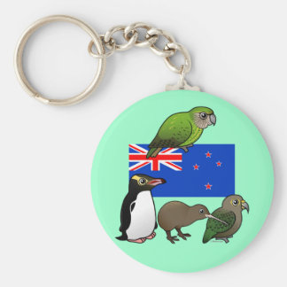 New Zealand Birdorables Basic Round Button Key Ring