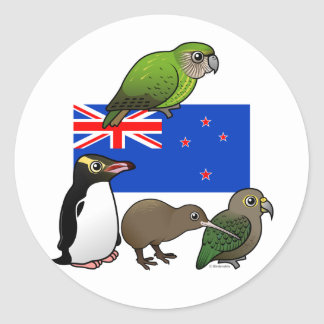 New Zealand Birdorables Classic Round Sticker