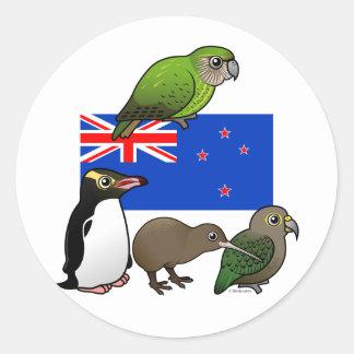 New Zealand Birdorables Round Sticker