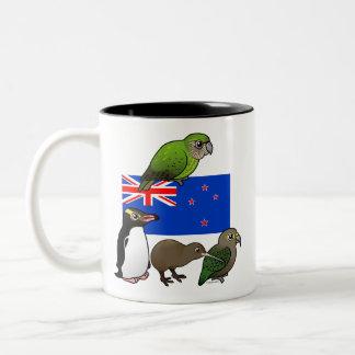New Zealand Birdorables Two-Tone Coffee Mug