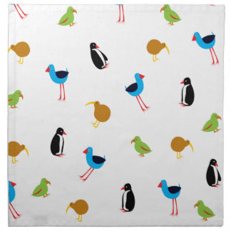 New Zealand Birds Napkin