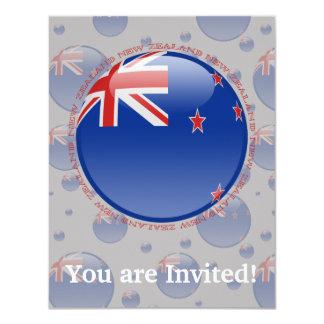New Zealand Bubble Flag 11 Cm X 14 Cm Invitation Card