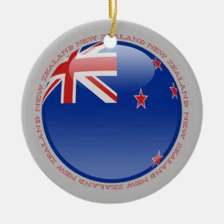 New Zealand Bubble Flag Christmas Ornament