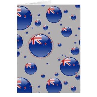 New Zealand Bubble Flag Note Card