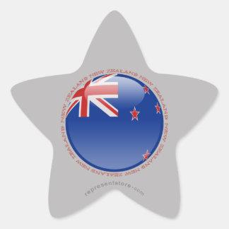 New Zealand Bubble Flag Star Sticker