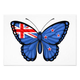 New Zealand Butterfly Flag Custom Invitation
