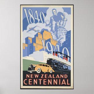 New Zealand Centennial Poster
