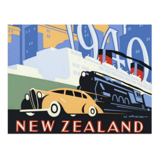 New Zealand Centennial Vintage Travel Postcard