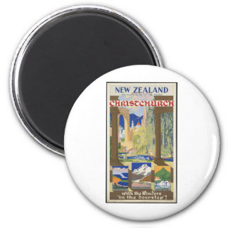New Zealand Christchurch 6 Cm Round Magnet