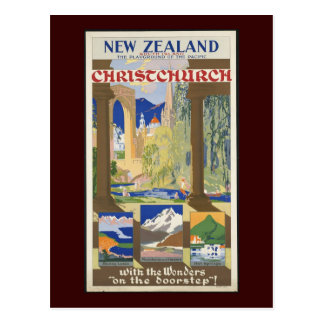 New Zealand Christchurch Postcard