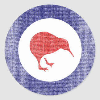 NEW ZEALAND CLASSIC ROUND STICKER