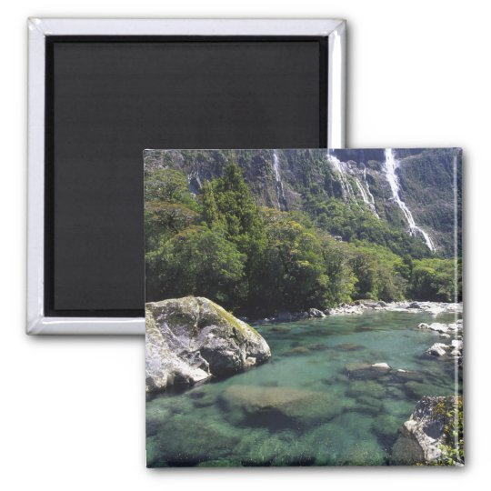 New Zealand, Cleddau River by Milford Road, near Square Magnet