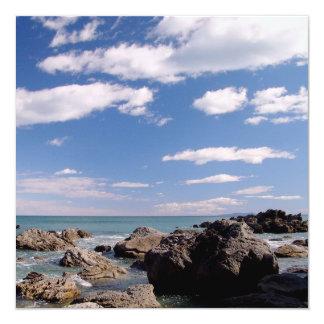 New Zealand Coast 13 Cm X 13 Cm Square Invitation Card