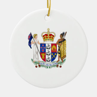 New Zealand Coat of Arms Christmas Ornament