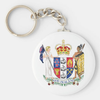 New Zealand Coat Of Arms Keychains
