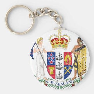 New Zealand Coat Of Arms Key Chain