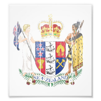 New Zealand Coat Of Arms Photograph