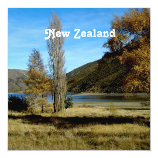 New Zealand Countryside 13 Cm X 13 Cm Square Invitation Card