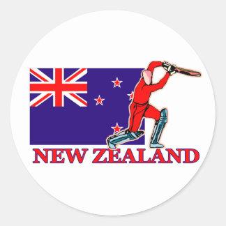 New Zealand Cricket Player Classic Round Sticker
