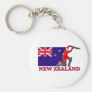 New Zealand Cricket Player Key Ring
