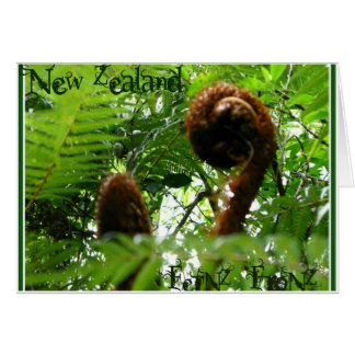 New Zealand FerNZ FroNZ Greeting Cards