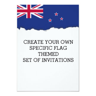 New Zealand Flag 13 Cm X 18 Cm Invitation Card