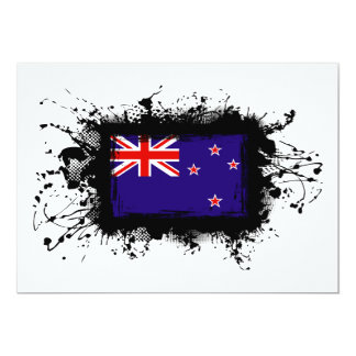 New Zealand Flag 13 Cm X 18 Cm Invitation Card